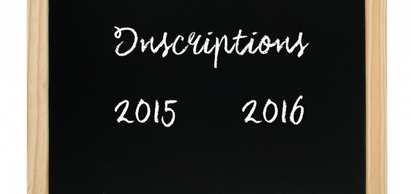 Inscriptions Saison 2015/2016