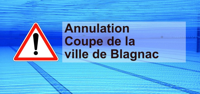 Annulation Coupe de la Ville de Blagnac