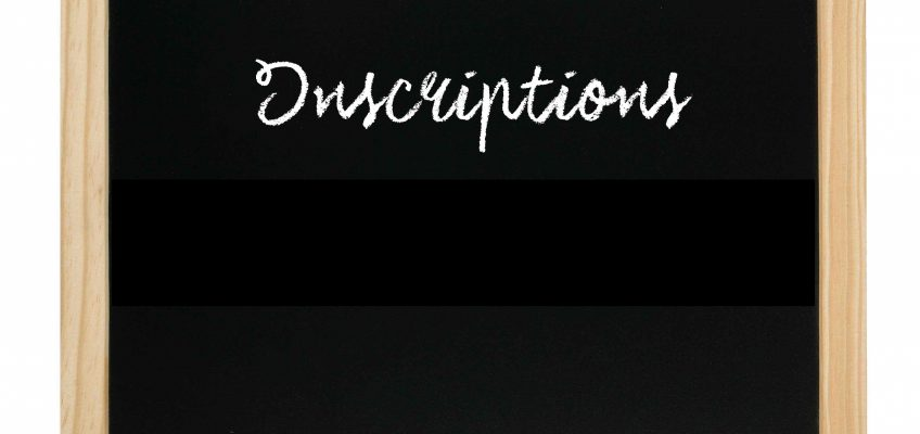Dates d'inscription 2019/2020